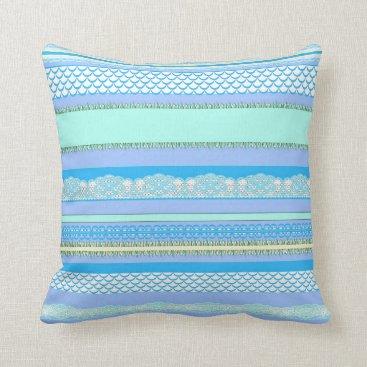 Beach Themed Beach House Blue surf Throw Pillow