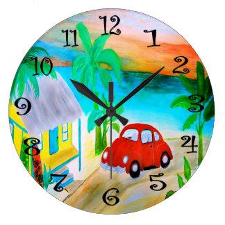 Beach house bug wall clock
