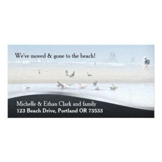 Beach House Change of Address Custom Photo Card