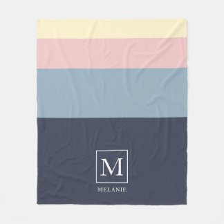 Beach House Color Scheme Personalized. Fleece Blanket