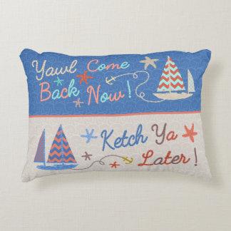 Beach House | Funny Nautical Pun | Sailing Humor Accent Pillow