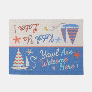 Beach House | Funny Sailboat Pun | Nautical Humor Doormat