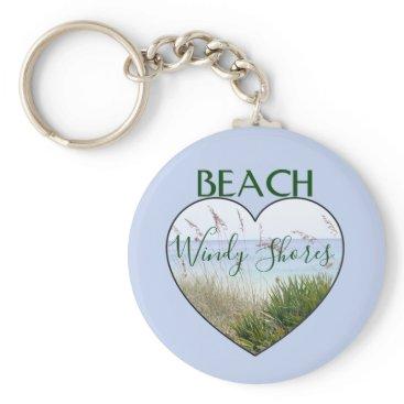 Beach Themed Beach House Heart Destin Florida Keychain