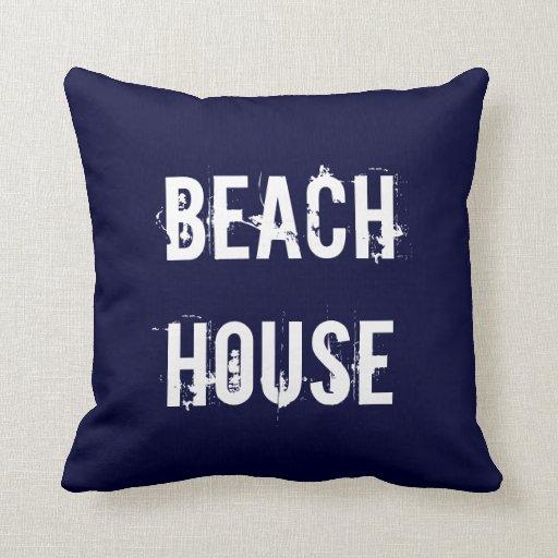Beach House Home Decor Pillow