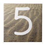 Beach House House Number Tile