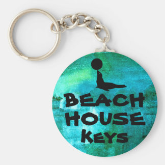 Beach House Key Keychain