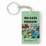 beach house keychains, beach house room keychains,