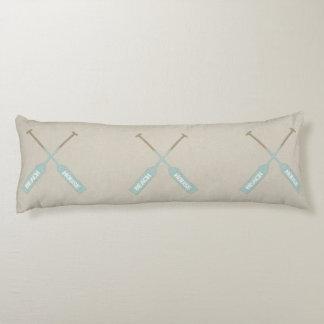 Beach House Oars Body Pillow