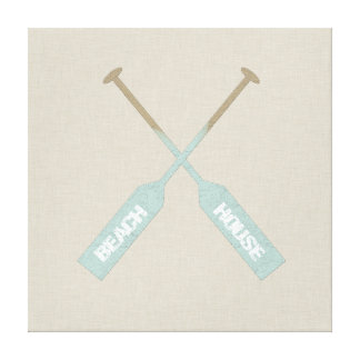 Beach House Oars Canvas Print