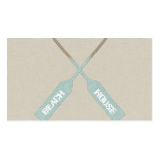 Beach House Oars Double-Sided Standard Business Cards (Pack Of 100)