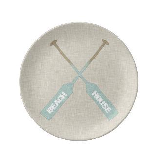 Beach House Oars Plate