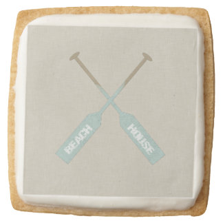 Beach House Oars Square Shortbread Cookie