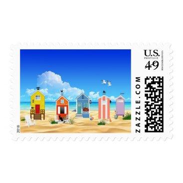 Beach Themed Beach House Ocean Sun & Sand Stamp