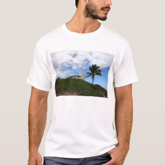 Beach House on Hill with sky and palm tree T-Shirt