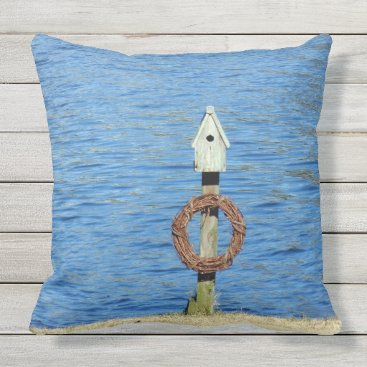 Beach Themed Beach House outdoor pillow