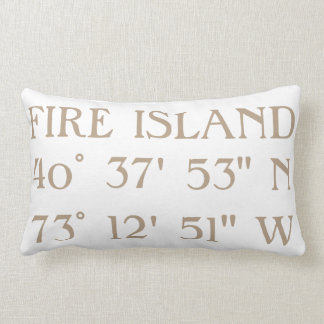 Beach House Pillow Latitude Longitude