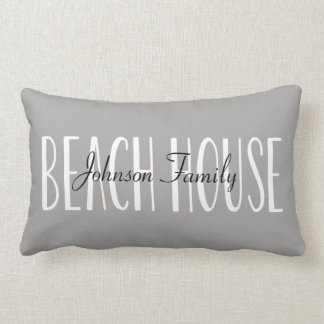 Beach House Pillow Personalized with Name