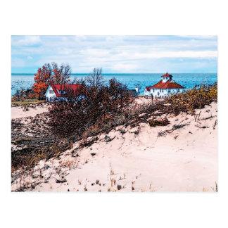Beach house postcard