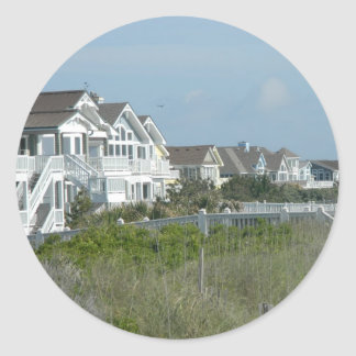 Beach House Real Estate Classic Round Sticker