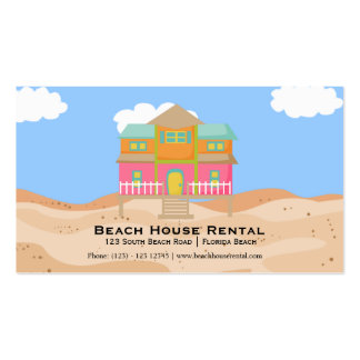 Beach House Rental Double-Sided Standard Business Cards (Pack Of 100)