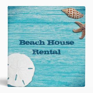 Beach House Rental Information Book 3 Ring Binders