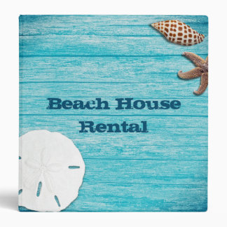 Beach House Rental Information Book Binder