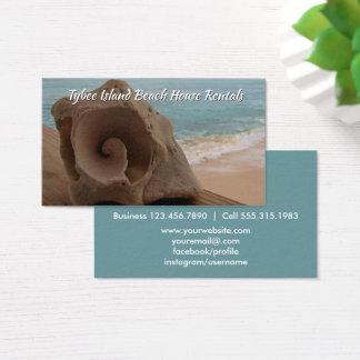 Beach House Rental Seashell Ocean Business Card