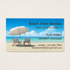 Beach House Rentals Business Card at Zazzle