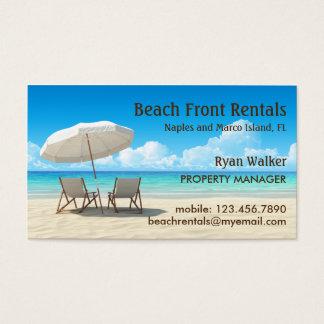 Beach House Rentals Business Card