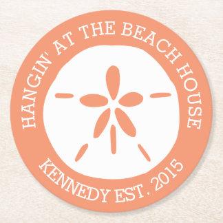 Beach House Round Paper Coaster