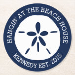 "Beach House Round Paper Coaster<br><div class=""desc"">Beach House</div>"