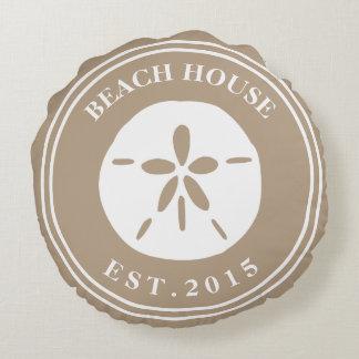 Beach House Round Pillow