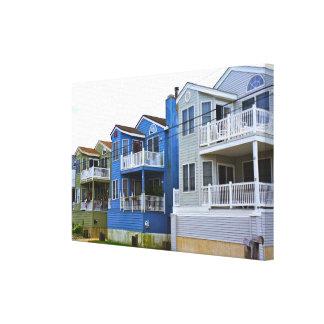 Beach House Row (Ocean City NJ) Canvas Print