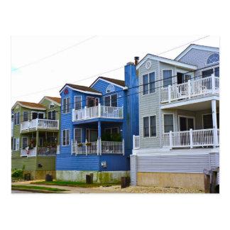 Beach House Row (Ocean City NJ) Postcard