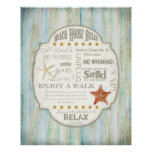 Beach House Rules Seashore Cottage Home Decor Art Posters