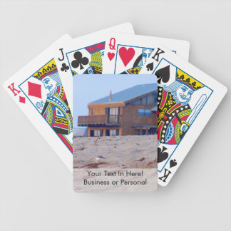 beach house sand sandpiper birds florida bicycle playing cards