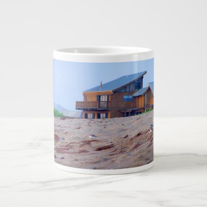 beach house sand sandpiper birds florida jumbo mug