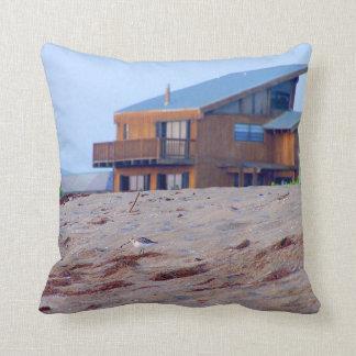 beach house sand sandpiper birds florida pillow