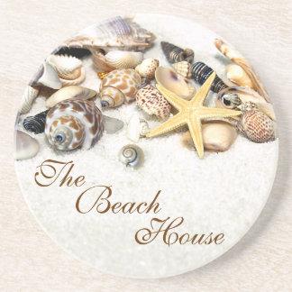 Beach House Seashells Coaster