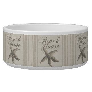 Beach House Starfish Sandy Coastal Decor Bowl