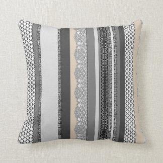 Beach House Stormy Grey Throw Pillow