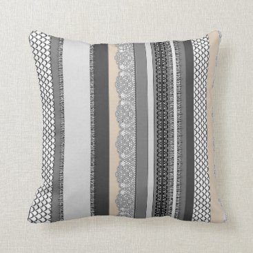 Beach House Stormy Grey Throw Pillow