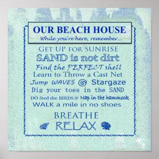 "Beach House ""To Do List"" Poster"