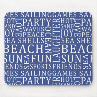Beach House Typography mousepad
