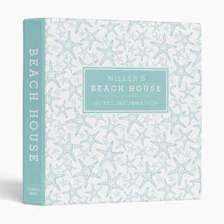 Beach House Vacation Rental Guest Information 3 Ring Binder