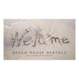 Beach House Welcome Business Card