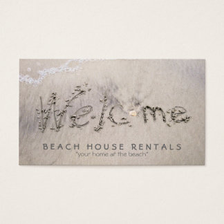 Beach House Welcome Business Card