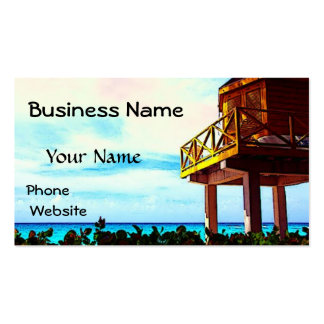 Beach House with Ocean View Double-Sided Standard Business Cards (Pack Of 100)