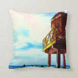 Beach House with Ocean View Pillow