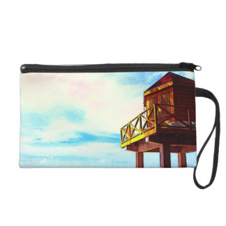 Beach House with Ocean View Wristlet